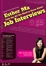 Esther Ma tells you all you need to know about Job Interviews